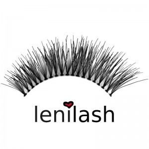 lenilash - False Eyelashes - Black - Nr.126 - Human Hair