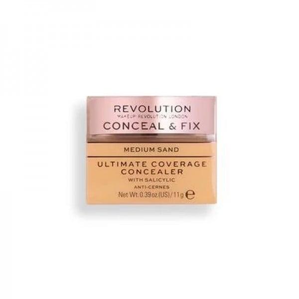 Revolution - Concealer - Conceal & Fix Ultimate Coverage Concealer - Medium Sand