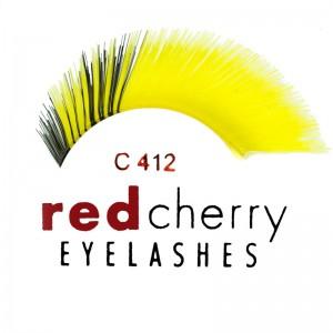 Red Cherry - False Eyelashes - Nr. C412 Yellow/Black