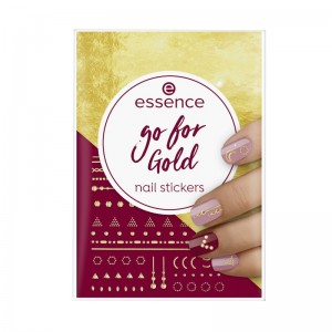 essence - go for Gold nail stickers