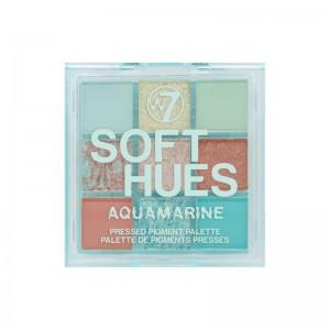 W7 - eyeshadow palette - SOFT HUES Pressed Pigment Palettte - Aquamarine