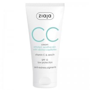 Ziaja - CC Cream - Irritated Sensitive Skin - SPF10