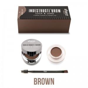 BPerfect - Augenbrauenpomade - indestructibrow Brow Lock & Load Eyebrow Pomade & Powder Duo - Brown