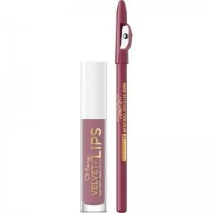Eveline Cosmetics - Set di rossetti - Oh My Velvet Lips Matt Lip Kit - 13 Brownie Biscotti