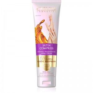 Eveline Cosmetics - Handcreme - Satin Compress Intensely Regenerating Hand Cream Nordic Raspberry