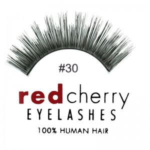 Red Cherry - False Eyelashes No. 30 Marlow - Human Hair