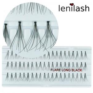 lenilash - Einzelwimpern  flare long black ca. 15mm - schwarz
