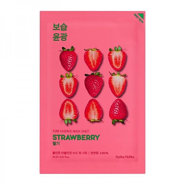 Holika Holika - Gesichtsmaske - Pure Essence Mask Sheet - Strawberry