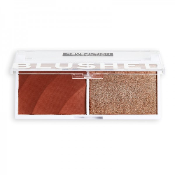 Revolution Relove - Rouge & Highlighter - Blushed Duo Blush & Highlighter - Baby