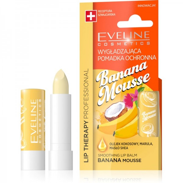 Eveline Cosmetics - Lippenpflege - Lip Therapy Smoothing Balm Banana Mousse