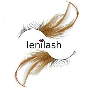 lenilash - False Eyelashes - Feather Lashes - Nr. 306 Black/Brown