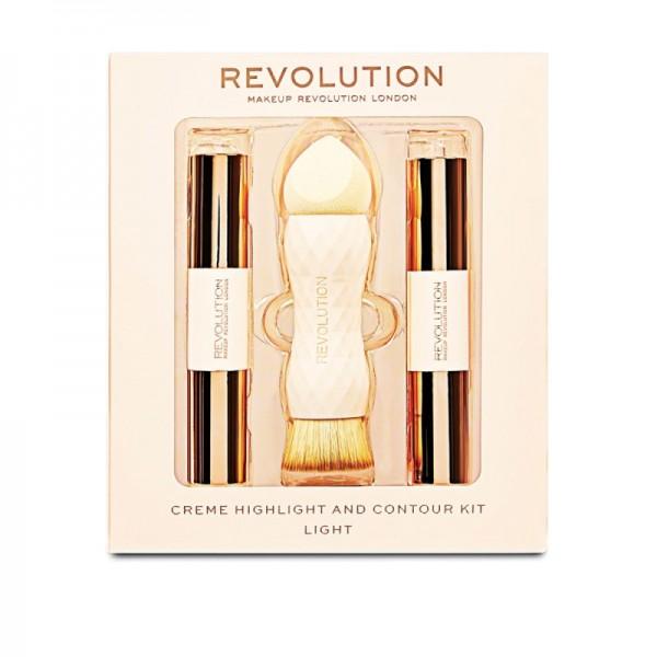 Makeup Revolution - Makeup Set - Creme Highlight and Contour Kit - Light
