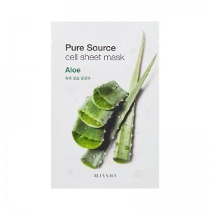 MISSHA - Gesichtsmaske - Pure Source Cell Sheet Mask - Aloe