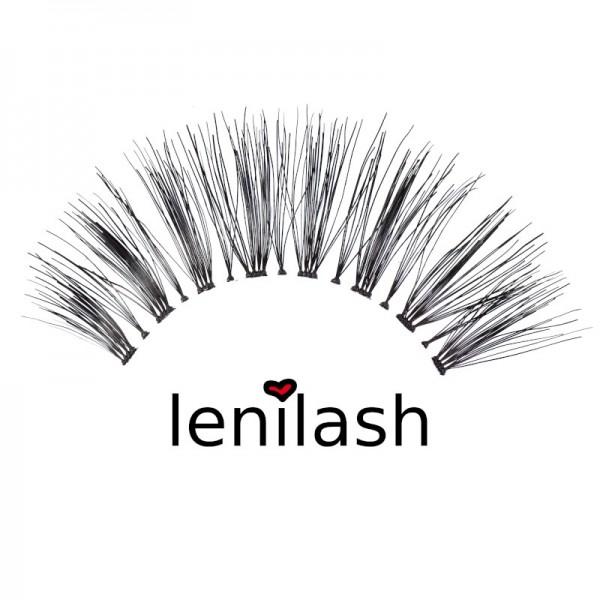 lenilash - False Eyelashes - Black - Human Hair - Nr.147
