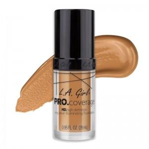L.A. Girl - Foundation - Pro Coverage Liquid Foundation - GLM 645 - Nude Beige