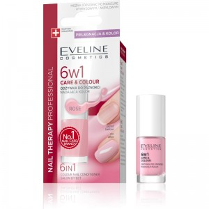 Eveline Cosmetics - Nagellack - Nail Therapy 6In1 Care & Colour - Rose