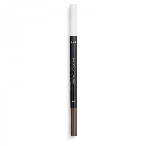 Revolution Pro - Augenbrauenstift - 24H Day & Night Brow Pen - Dark Brown