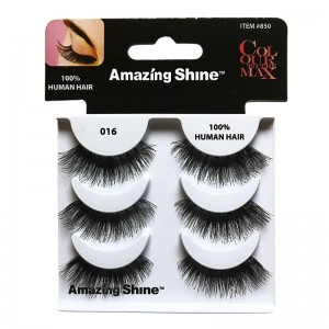 Amazing Shine - Falsche Wimpern - Colour to the Max - Nr. 016 - Echthaar - 3Pack