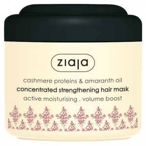 Ziaja - Haarmaske - Cashmere Proteins & Amaranth Oil Concentrated Strengthening Hair Mask