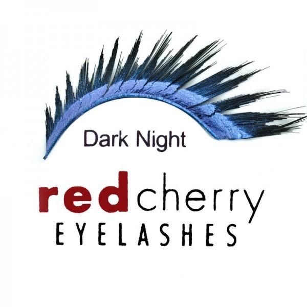 Red Cherry - False Eyelashes - Glitter - Dark Night Blue