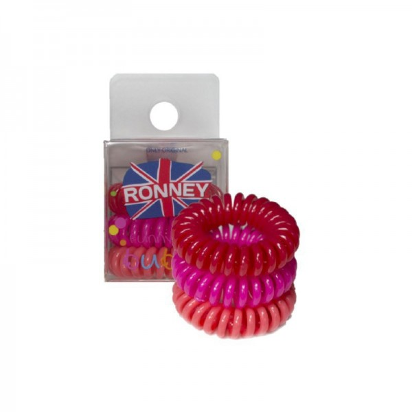 Ronney Professional - Funny Ring Bubble - Rot, Pink, Lachs - 3 Stk