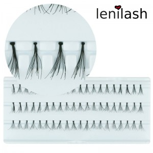 lenilash - Single Lashes -  flare short black - approx. 10mm - Black