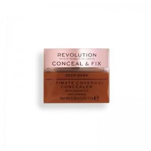 Revolution - Concealer - Conceal & Fix Ultimate Coverage Concealer - Deep Dark