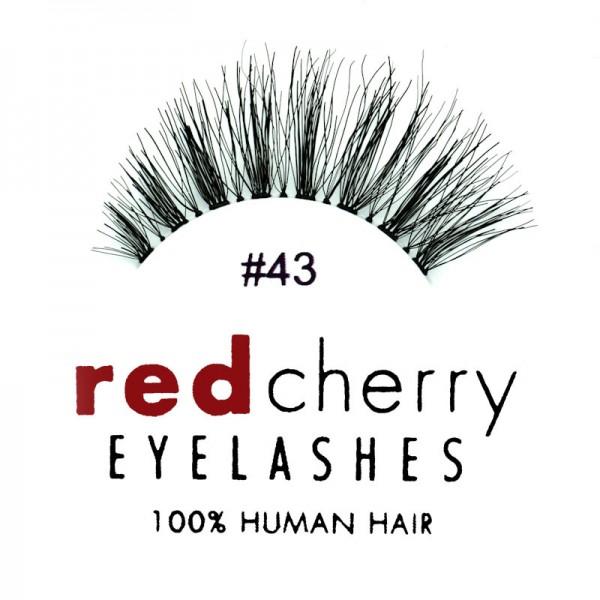 Red Cherry - False Eyelashes No. 43 Stevi - Human Hair