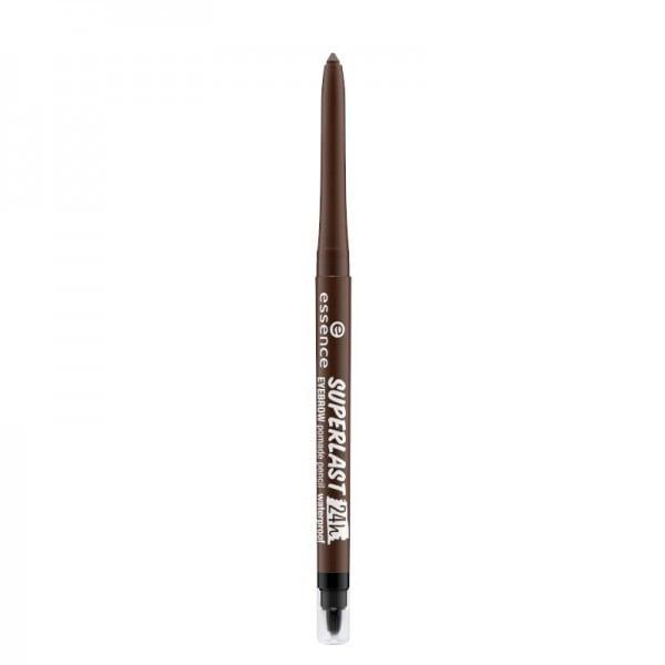essence - superlast 24h eyebrow pomade pencil waterproof - dark brown