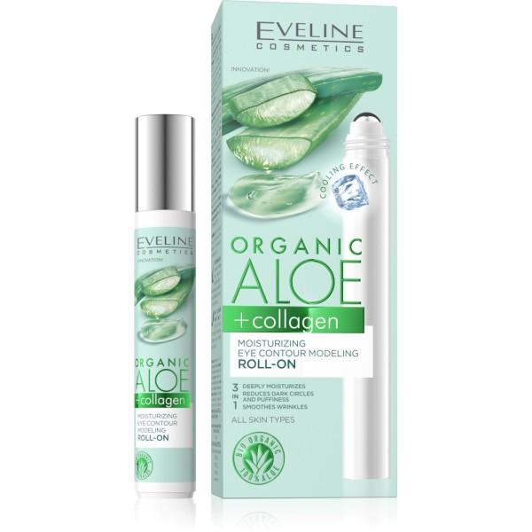 Eveline Cosmetics - Organic Aloe + Collagen Moisturizing Eye Contour Modeling Roll-On