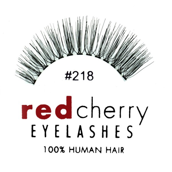 Red Cherry - False Eyelashes No. 218 Bentley - Human Hair