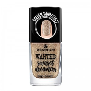 essence - Nagellack - wanted: sunset dreamers - top coat - 01 golden sand