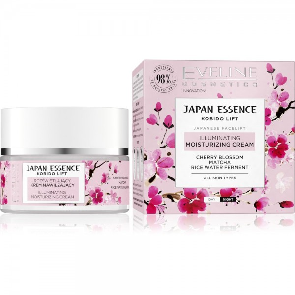 Eveline Cosmetics - Gesichtscreme - Japan Essence Illuminating Moisturizing Cream 50ML