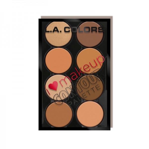 LA Colors - I Heart Makeup Contour - Medium-Deep