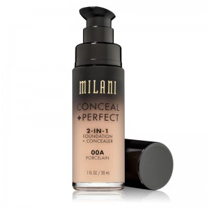 Milani - Foundation + Concealer - 2 in 1 - Conceal + Perfect - Porcelain - 00A