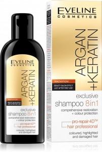 Eveline Cosmetics - Haarshampoo - Argan + Keratin Exclusive Shampoo 8In1
