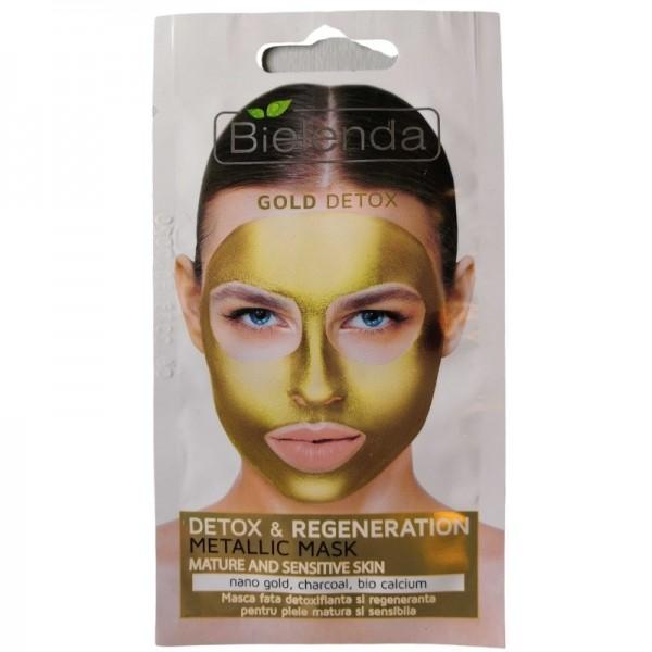 Bielenda - Gesichtsmaske - Gold Detox - Detox & Regeneration Metallic Mask