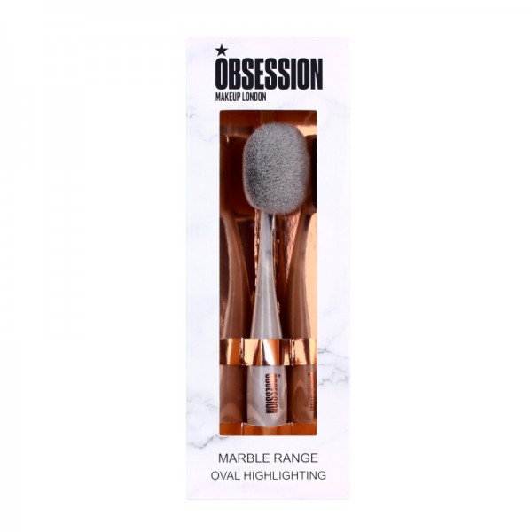 Makeup Obsession - Kosmetikpinsel - Marble Range Oval Highlighting Brush