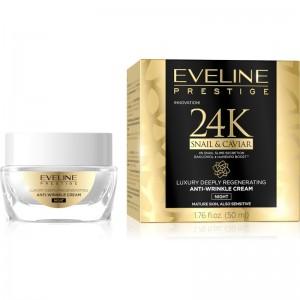 Eveline Cosmetics - Nachtcreme - Prestige 24K Snail&Caviar Anti Wrinkle Cream Night - 50ml