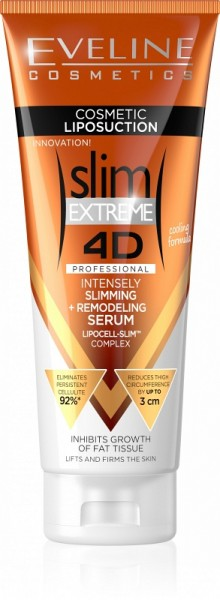 Eveline Cosmetics - Bodylotion - Slim Extreme 4D Liposuction Intensely Slimming + Remodeling Serum