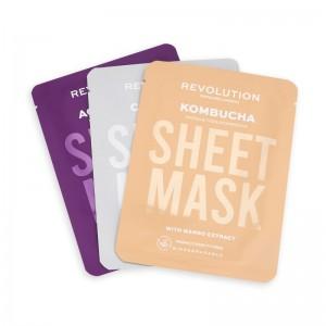 Revolution - Gesichtsmasken-Set - Skincare Combination Skin Sheet Masks Set 3Stk