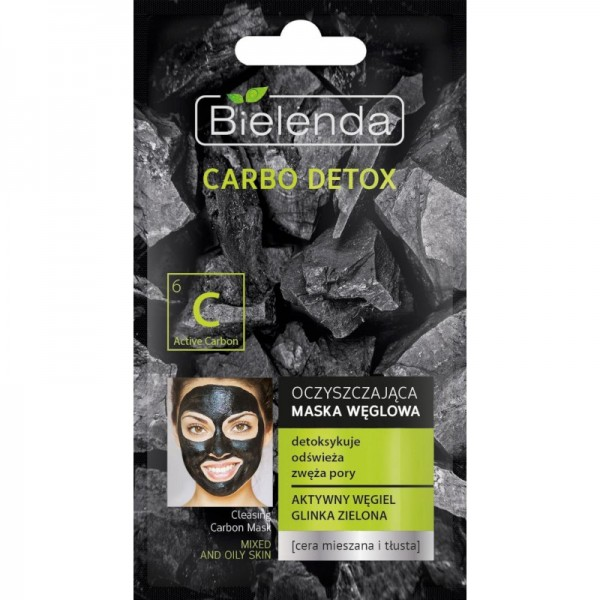 Bielenda - Gesichtsmaske - Carbo Detox Cleansing Carbon Mask Mischhaut