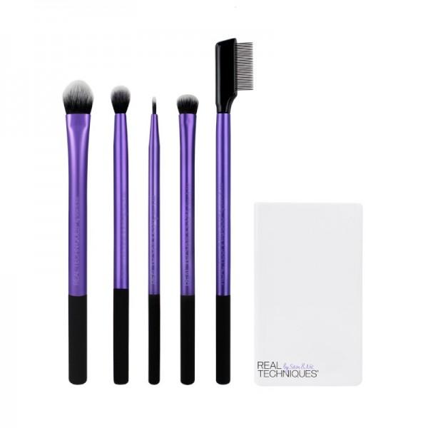 Real Techniques - Brush Set - ENHANCED EYE SET