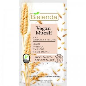 Bielenda - Vegan Muesli 2 In 1 Moisturizing Mask Oats + Wheat + Flax Seed 8 G