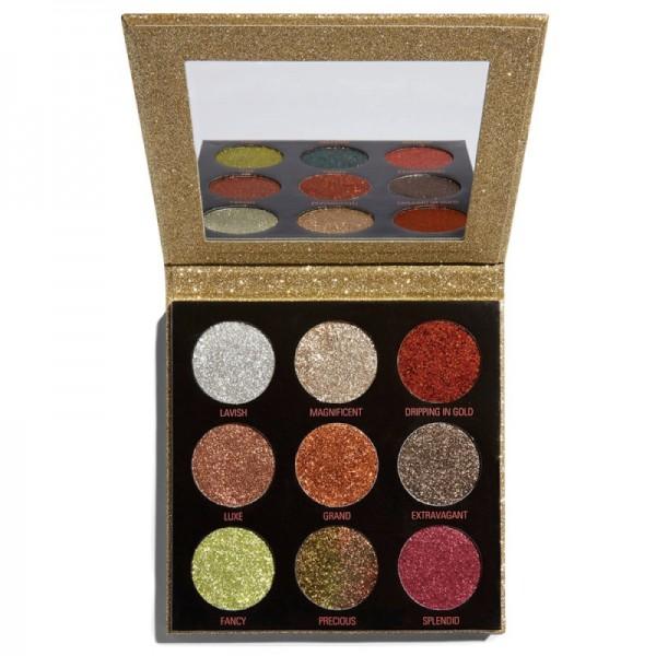 Makeup Revolution - Lidschattenpalette - Pressed Glitter Palette - Midas Touch