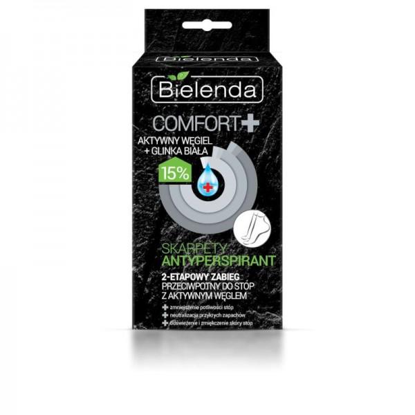 Bielenda - Maschera per piedi - COMFORT antiperspirant socks - active ointment for cracked heels