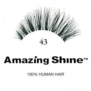 Amazing Shine - False Eyelashes - No 43 - Human Hair