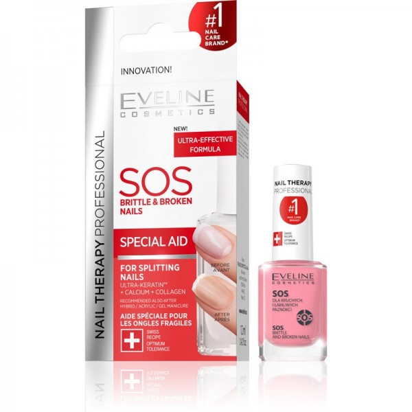 Eveline Cosmetics - Nagelpflegelack - Nail Therapy Professional Sos Brittle & Broken Nails Condition