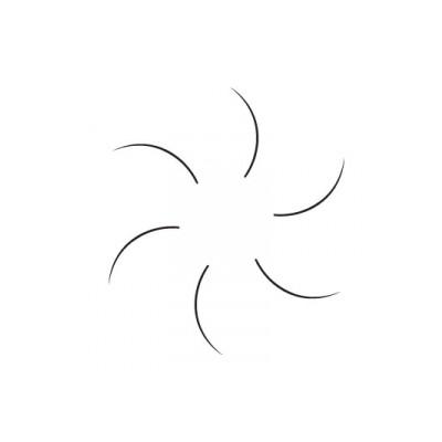 Blink - Schwarze Einzelwimpern - B-Curl - 0,5 Gramm - Durchmesser 0,25mm
