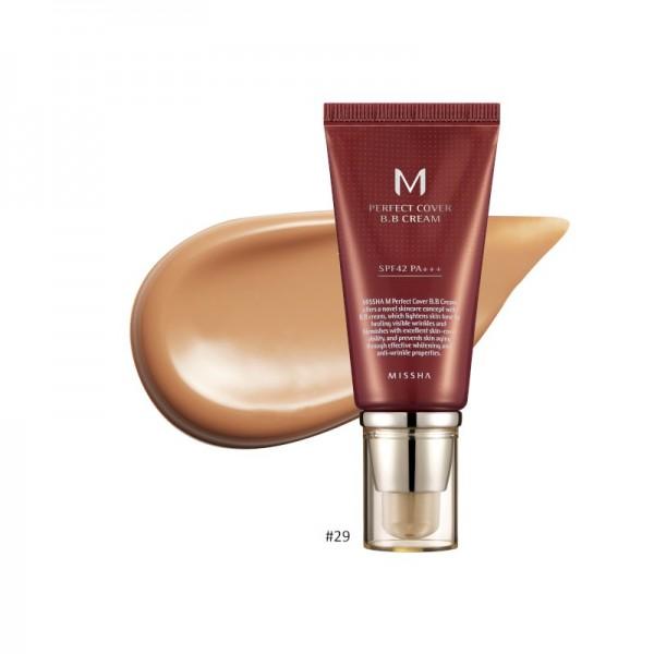 MISSHA - BB Cream - M Perfect Cover BB Cream - SPF42 - No.29/Caramel Beige - 50ml